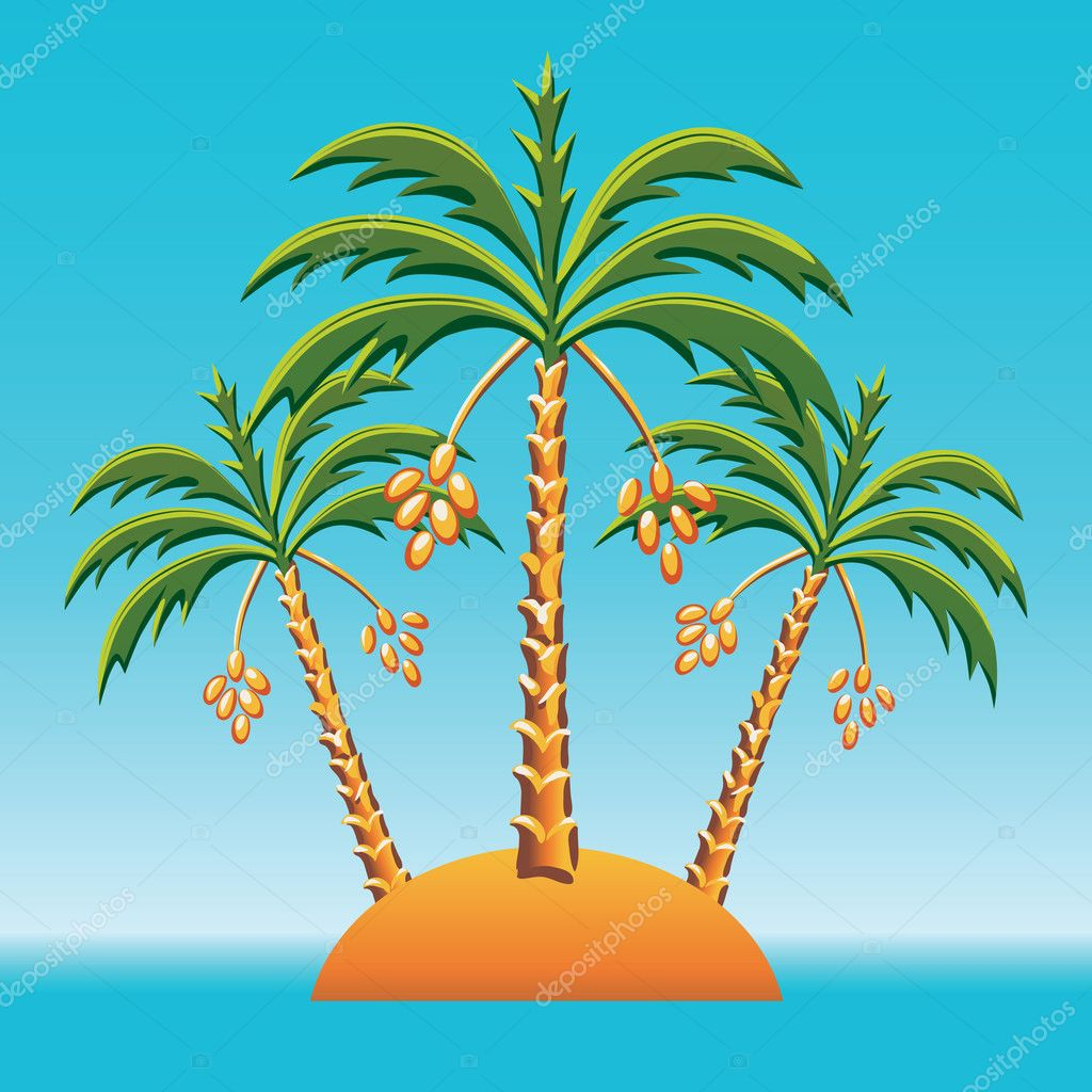 Clip Art Pictures Of Palm Trees