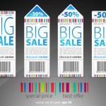 Color vector sale tickets — Stock Vector #5786088