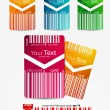 Set of discount color cards - Stock Vector
