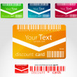 Royalty-Free Stock Vector Image: Set of horizontal discount cards