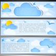 Set of headings for a site. good weather — Stock Vector