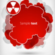 Vector red thundercloud — Stock Vector
