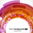 Nice abstract modern background with round shapes — Image vectorielle