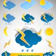Set of different weather icons - Stock Vector