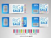 Color vector sale tickets — Stock Vector