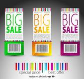 Renk vektör satış biletleri — Stok Vektör