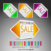 Color sale tickets — Vector de stock