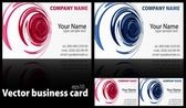 Set of vector business cards — Stock Vector