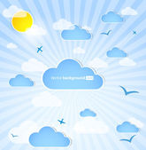 Good weather background. Blue sky with clouds — Stock Vector