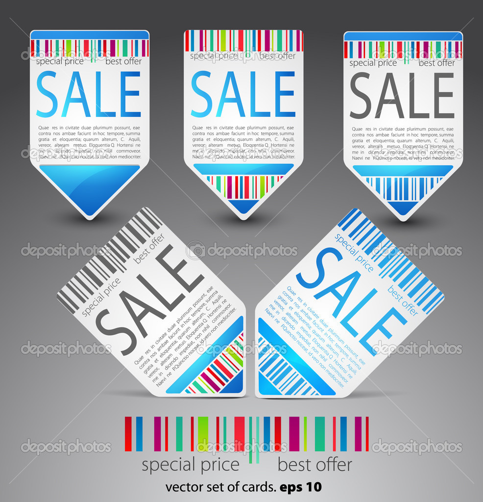Color vector sale tickets. eps 10  Stock Vector #5786141