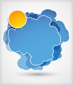 Abstrakt blau Wolke — Stockfoto