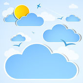 Good weather background. Blue sky with clouds — Stock Photo