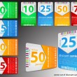 Set of discount cards - Stockvectorbeeld