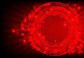 Red abstract background with glowing lights. — Stock Photo