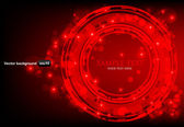 Red abstract background with glowing lights. — Stock Vector