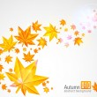 Stock Vector: Autumn background with glowing lights