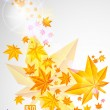 Autumn background with glowing lights — Stock Vector #6262201