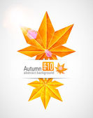 Autumn background with glowing lights. — Stock Vector