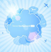 Background with an abstract cloud — Stock Vector