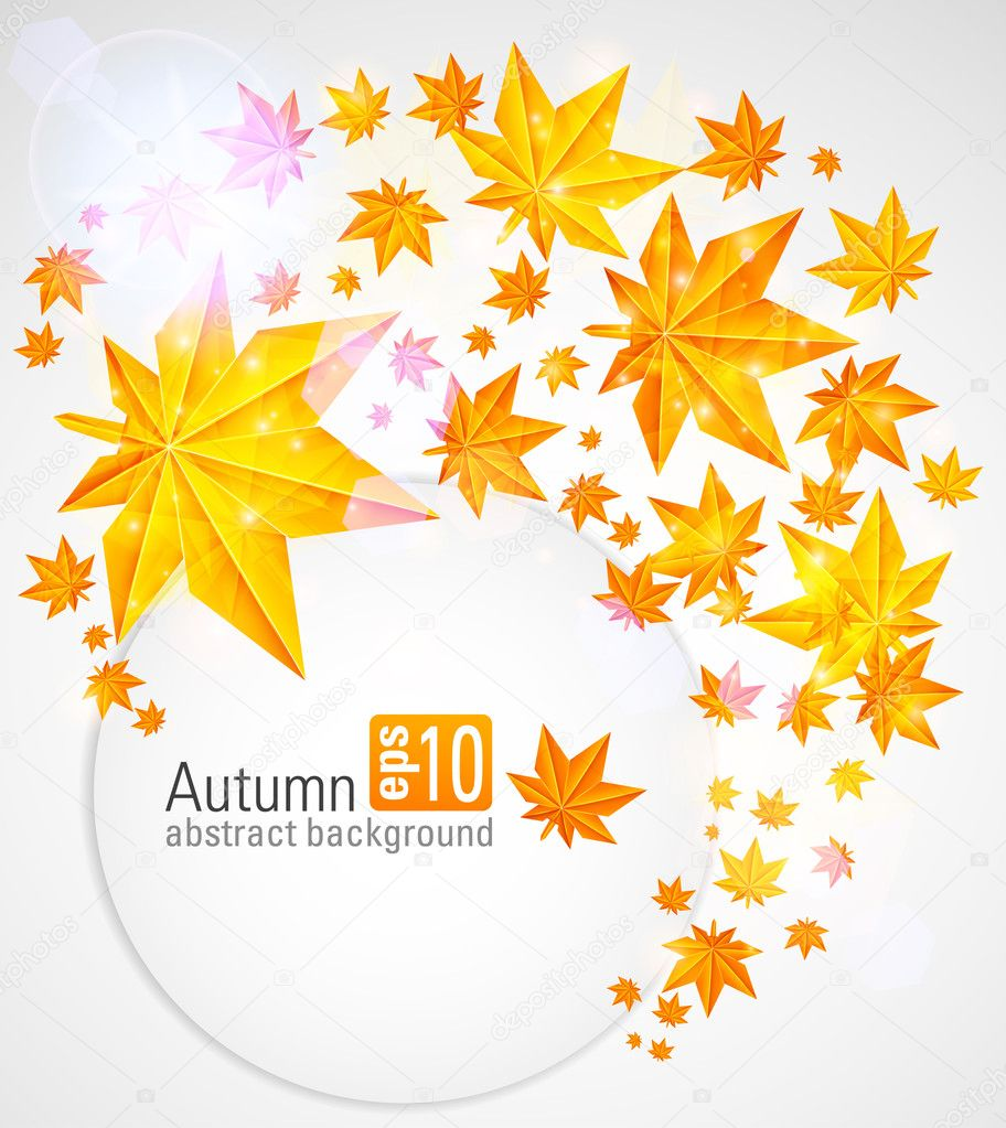 Autumn background with glowing lights. eps 10 — Stock Vector #6262202