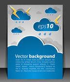 Bad weather. Sky with clouds and lightnings — Stock Vector