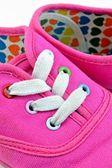 Dětské barevné letní boty — Stock fotografie