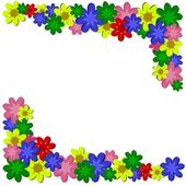 Flower floral frame border — Vettoriale Stock