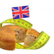 British pork pie diet concept — Stock Photo
