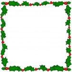Christmas holly border frame — Stock Vector #6558925