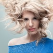 Fashion portrait curly blonde — Stock Photo #5546543