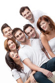 Group friends having fun smiling — Stock Photo