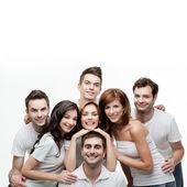 Group friends having fun — Stock Photo