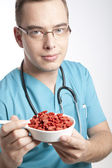 Doctor recommandation wolfberry — Stock Photo