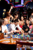 Excitement over roulette playing — Stok fotoğraf