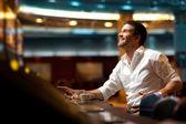 Hoping to win casino player — Stock Photo