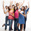 Happy fun group of friends — Stock Photo #6078532