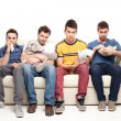 Sad grup of friends — Stock Photo