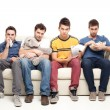 Sad grup of friends - Stock Photo