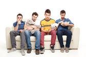 Triste grup de amigos — Foto Stock