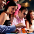 Poker players at the table - Stockfoto