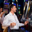 Happy slots winner - Stock Photo