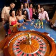Playing roulette — Stock Photo