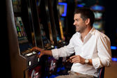 Hoping to win casino player — Stock Photo