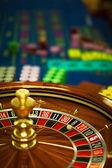 Wooden roulette wheel — Photo