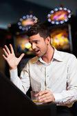 Slot machine looser — Stock Photo