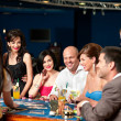 Casino blackjack players — Stock fotografie