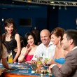 Casino blackjack players — Foto Stock