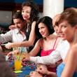 Casino blackjack players - Stock Photo