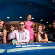 Poker players — Foto Stock