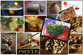 Food. Collage — Stockfoto